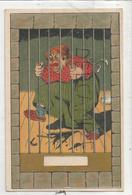 Femme Enragée En Prison, Parapluie, Pot De Chambre. - Humor