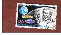 GIBUTI (DJIBUTI) -  SG 796  -    1980  J. VERNE, WRITER   - USED ° - Gibuti (1977-...)