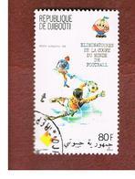 GIBUTI (DJIBUTI) -  SG 802 -    1981  WORLD CUP FOOTBALL  - USED ° - Gibuti (1977-...)
