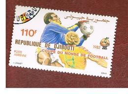 GIBUTI (DJIBUTI) -  SG 837 -    1982  WORLD CUP FOOTBALL  - USED ° - Gibuti (1977-...)