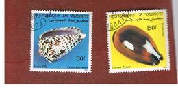 GIBUTI (DJIBUTI) -  SG 866.868 -    1982  SHELLS  - USED ° - Gibuti (1977-...)