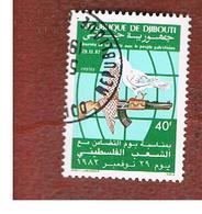 GIBUTI (DJIBUTI) -  SG 869 -    1982  PALESTINIAN SOLIDARITY DAY - USED ° - Gibuti (1977-...)