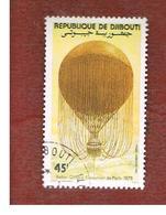 GIBUTI (DJIBUTI) -  SG 871 -    1983 MANNED FLIGHT BICENTENARY: GIFFARD - USED ° - Gibuti (1977-...)