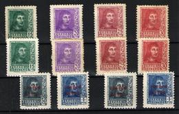 España Nº 841/44 Y 845/46. Año 1938 - 1931-50 Nuevos & Fijasellos