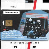 CARTE-PUBLIC-MONACO-50U-MF50-GEM B-09/98-BOBSLEIG-NSB-TBE- - Monaco