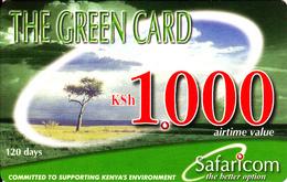 Carte Prepaid Kenya The Green Card, 100 Ksh - Kenia