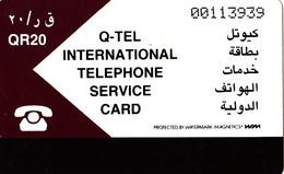 Carte Prepaid Magnétique Qatar Q-TEL QR20 - Qatar