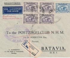 Australia / Nederlands Indië - 1931 - R-cover Abel Tasman Returnflight Van Bendigo / Victoria Naar Batavia - Nederlands-Indië