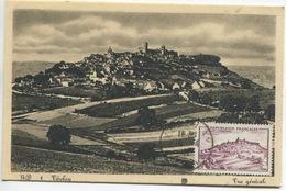 VEZELAY (Yvert N° 759 )  Carte Maximum  Journée Du Timbre 1949 / Avignon - 1940-49