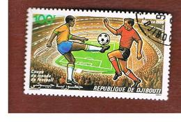 GIBUTI (DJIBUTI) -  SG 974  -    1986  WORLD CUP FOOTBALL  - USED ° - Gibuti (1977-...)