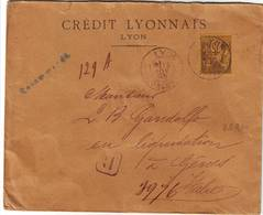 75 C Sage N° 99 Seul Sur Lettre RECOMMANDEE De Lyon Pour L' Italie Cote 340 Euro - Marcofilia (sobres)