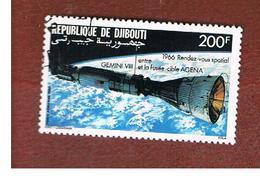 GIBUTI (DJIBUTI) -  SG 993  -    1986 SPACE FLIGHT: GEMINI VIII-AGENA - USED ° - Gibuti (1977-...)