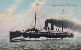 619 Bateaux Ostende Malle Poste A Turbine Princesse Elisabeth - Ships