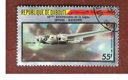 GIBUTI (DJIBUTI) -  SG 994  -    1987   HISTORIC FLIGHTS: PLANE AMIOT 370     - USED ° - Gibuti (1977-...)