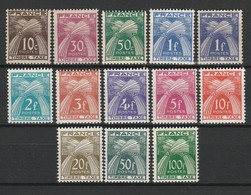 FRANCE TAXE 1946-55 YT N° 78 à 89 ** - Postage Due
