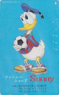 Télécarte Japon / 110-011 - DISNEY - DONALD DUCK Sport Football ** SUNNY ** - Japan Phonecard TK Rel. - Disney