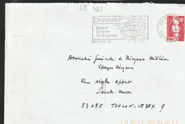 FLAMME PERMANENTE  49  BAGNEUX - Marcofilia (sobres)