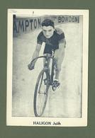 CARTE POSTALE CYCLISTE CYCLISME JULES HALIGON - Cyclisme