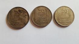 20 Francs Turin (3 Pièces) - Monnaies & Billets