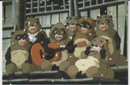 Postcard - Studio Ghibli - Pom Poko - Meet The Gang - The Bears New - Unclassified