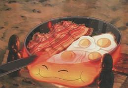 Postcard - Studio Ghibli - Howl's Moving Castle - Breakfast Yes Please - New - Unclassified