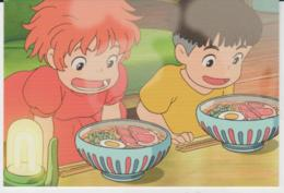 Postcard - Studio Ghibli - Ponyo - Breakfast With Chop Sticks - New - Unclassified
