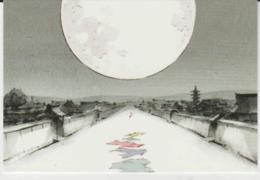 Postcard - Studio Ghibli - The Tale Of The Princess Kaguya - Under The Moon New - Unclassified