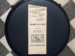MANUEL DE VOL MAX-HOLSTE  MH-1521 BROUSSARD Liste Verifications ARMÉE DE L'AIR Et AVIATION  COMMERCIALE 1960 - Manuals