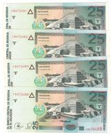 El Salvador 25 Colones 1999, UNC, COSEC. NUMBERS. (20.35 Usd X1) - El Salvador