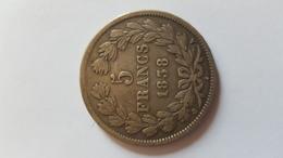 5 Francs Louis Philippe 1 - Monnaies & Billets