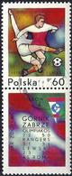 Poland 1970 - Mi 2008Zf - YT 1858 ( European Football Championship ) + Label - 1944-.... République