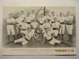 Cpa Socièté Fédérale De Gymnastique- Section De VERSOIX -fête Fédérale De Berne 1906 - BE Berne