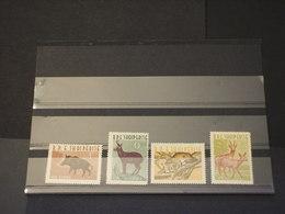 ALBANIA - 1962 ANIMALI 4 VALORI - NUOVI(++) - Albania