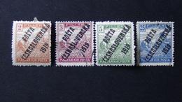 Czechoslovakia - 1919 - Mi:CS 120-2,127, Yt:CS 75-77,84 **MH/o - Look Scan - Tchécoslovaquie