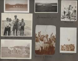 120819 - 10 PHOTOS 1924 DANEMARK SCOUTISME FDF Landslejr Julsolejr - Jeunesse Chrétienne Danoise Photo Camp  Jeu Nu - Autres