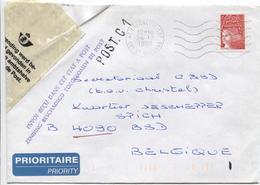 3266/ L.France Villeneuve S/Lot 1998 > Spich 4090 BSD Accidentée&réparée Griffe Mauve Envoi Reçu Ds Cet état à Post. C 1 - Marcophilie