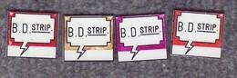 Lot De 4 Pin's Différent BD Strip Numéroté - Fanzine - BD