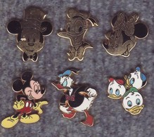 Lot De 6 Pin's Arthus Bertrand Paris - Walt Disney - émail Grand Feu - Luxe - BD