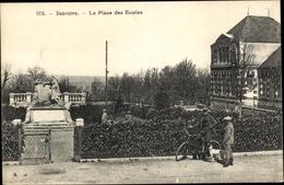 Cp Sancerre Cher, La Place Des Ecoles - Frankrijk