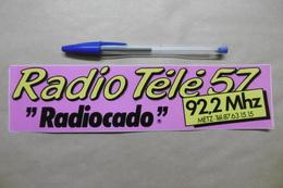 "Autocollant - Médias RADIO TELE 57 ""RADIOCADO"" 92.2 Mhz METZ - Autocollants"