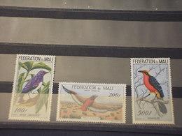 MALI - P.A. 1960 UCCELLI 3 VALORI - NUOVI(++) - Mali (1959-...)