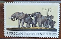 ETATS UNIS, Elephants, Elephant.  Yvert N° 891 Neuf San Gomme - Elefanti