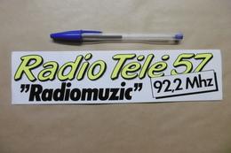 """Autocollant - Médias RADIO TELE 57 """"RADIOMUZIC"""" 92.2 Mhz METZ - Autocollants"""