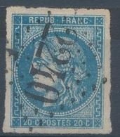 N°45 BORDEAUX NUANCE ET OBLITERATION. - 1870 Emissione Di Bordeaux