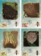 Thaïlande. Lot De 4 Cartes. Abeilles - Honeybees