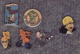 Lot De 7 Pin's - Sapristi Fanzine - Standdard - Divers BD - BD