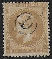 Napoléon N° 28 Oblitéré Cachet De Boite Rurale D - Cote : 50 € - 1863-1870 Napoleon III With Laurels