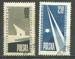 POLAND Oblitéré 938-939 Année Géophysique Internationale Ours Polaire Satellite Espace - 1944-.... République