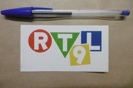 """Autocollant - Médias TV Chaîne De Télévision Logo  """" RTL9 """" - Stickers"""