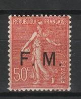 FRANCE FRANCHISE MILITAIRE 1929 YT N° FM 6 ** - Franchigia Militare (francobolli)